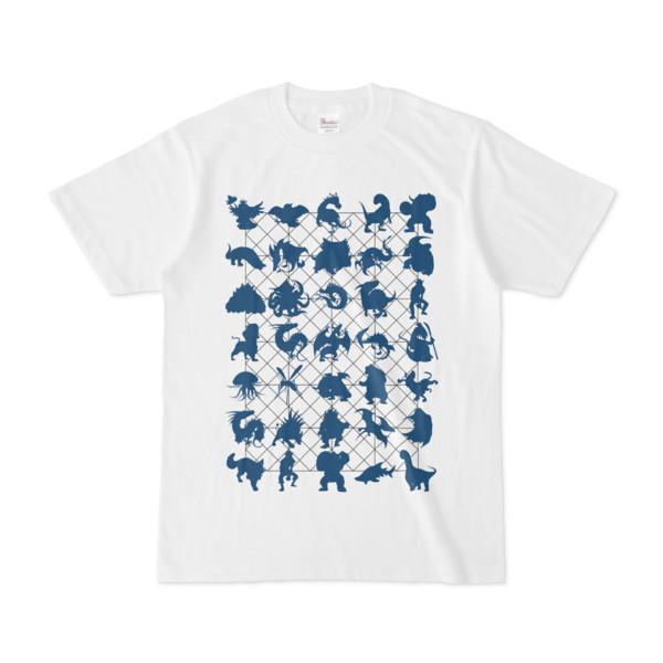 シンプルデザインTシャツ NET35☆MONSTER(NAVY)