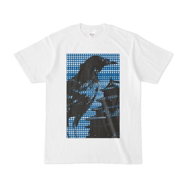 シンプルデザインTシャツ M-CrowCastle(BLUE)