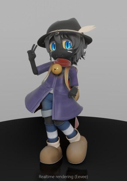 【モデル配布】io-chan 3Dモデル