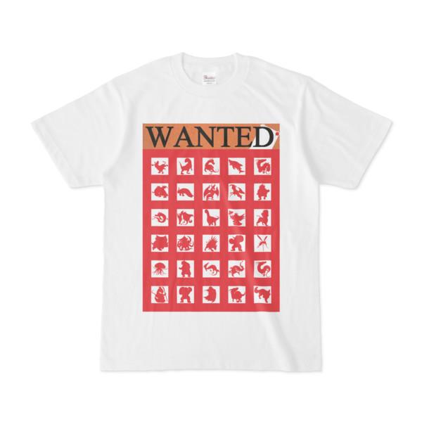 シンプルデザインTシャツ WANTED MONSTER(CRIMSON)