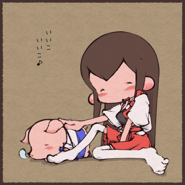 加賀さんを寝かしつける赤城さん