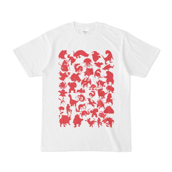 シンプルデザインTシャツ MONSTER☆43MAP(CRIMSON)