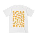 シンプルデザインTシャツ MONSTER☆43MAP(GOLD)