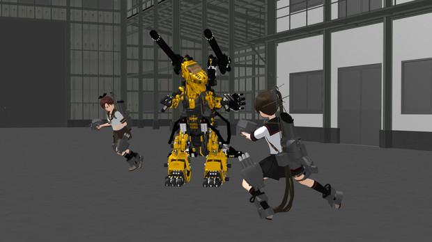 鬼神(と敷波)VS獣鬼