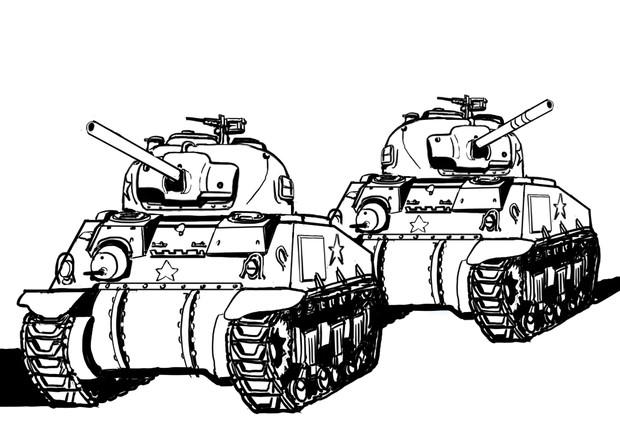 アメリカ陸軍M4中戦車シャーマンくん