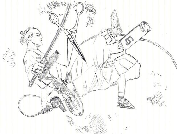 荒川アンダー ザ ブリッジ9巻の表紙を描いてみた