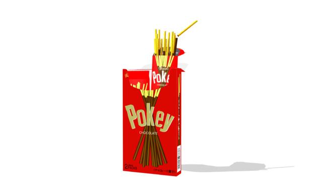 【MMDアクセサリ配布】ポッキーの箱のような何か「ポッキィーver.3.0」