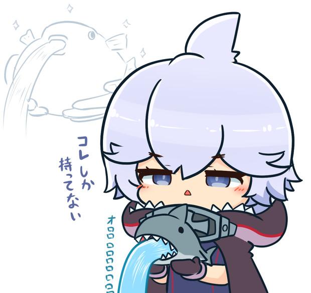 フグの日のサメちゃん