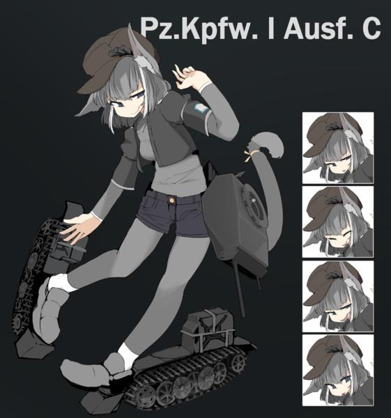 Pz1C擬人化