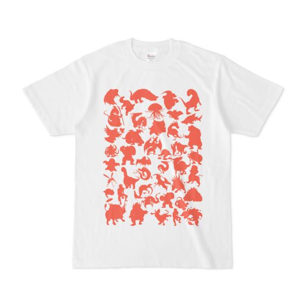 シンプルデザインTシャツ MONSTER☆43MAP(TOMATO)