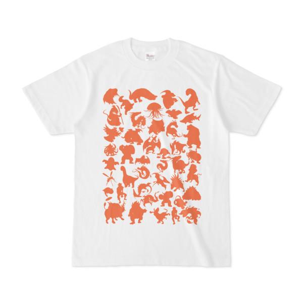 シンプルデザインTシャツ MONSTER☆43MAP(CHOCOLATE)