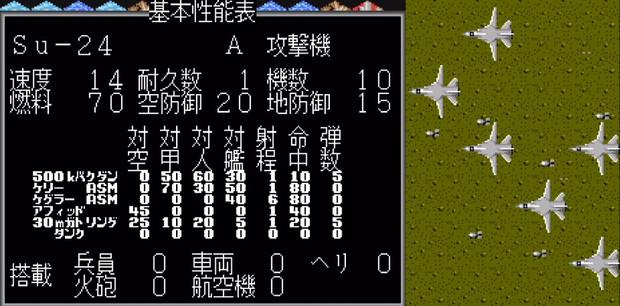 【MD】スーパー大戦略:Su-24