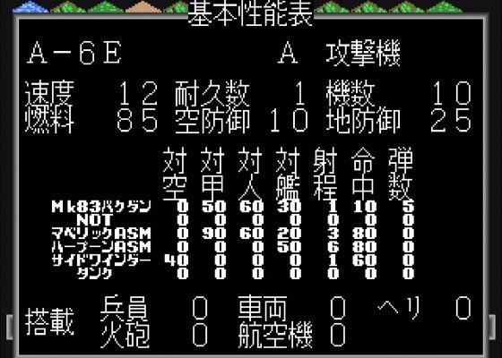 【MD】スーパー大戦略:A-6E