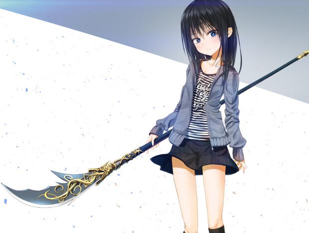 女の子×青龍偃月刀