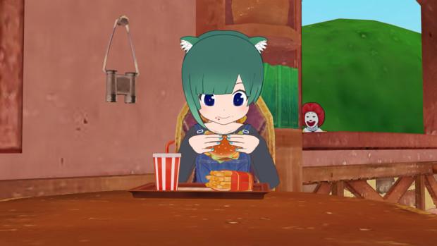 ハンバーガーを食べさせたい