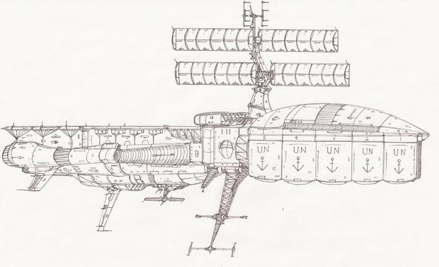 ヘーラー級宇宙補給艦「自作艦」