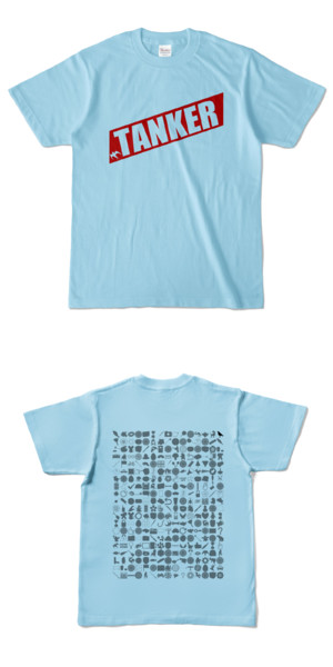 Tシャツ ライトブルー 燕TANKER