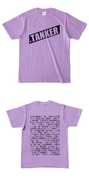 Tシャツ ライトパープル 燕TANKER
