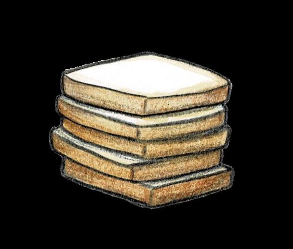 重ねた食パン