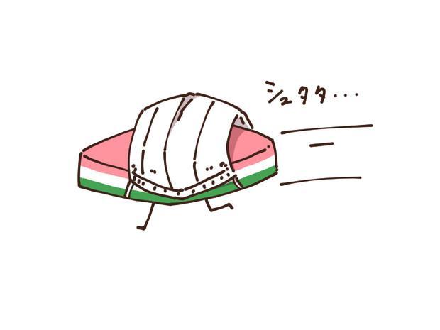 衛生面に配慮した菱餅