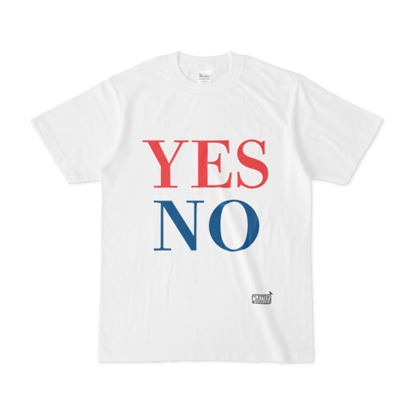 Tシャツ ホワイト 文字研究所 YES NO