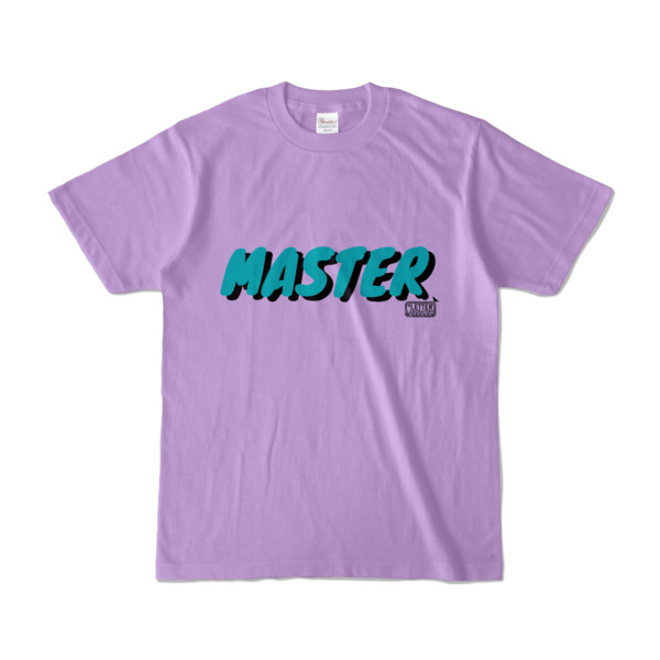 Tシャツ ライトパープル 文字研究所 MASTER