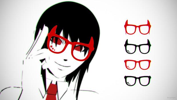 角つき眼鏡