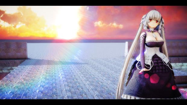 【MMDアズレン】Sun Flare Hexagonal Bokeh 2 使用してみました