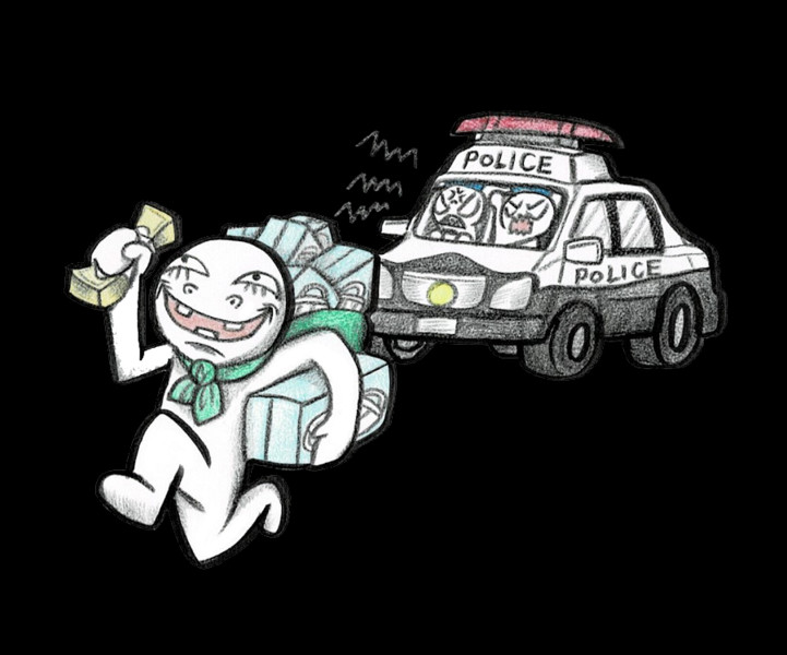 警察から逃げる転売ヤー