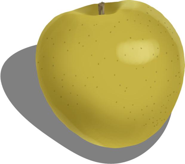 黄色い林檎..王林という品種ですw