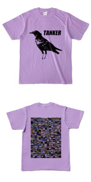 Tシャツ ライトパープル CROW★TANKER