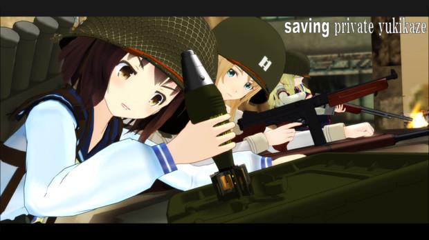 [MMD艦これ]「プライベート・ライアン」より「迫撃砲弾」