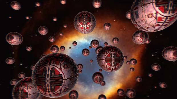太陽系決戦時のバッツーラ艦隊侵攻コース