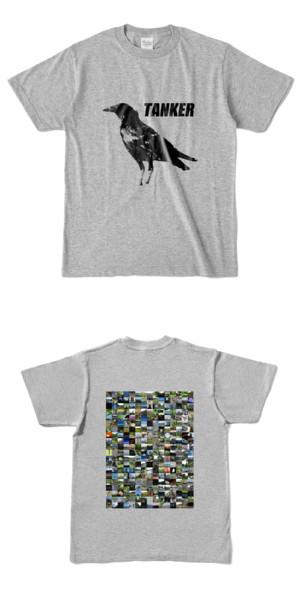 Tシャツ 杢グレー CROW★TANKER