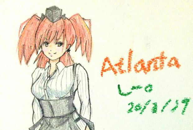 アトランタさんとお絵描き練習3