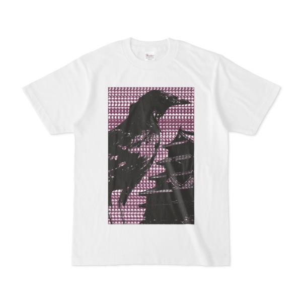 シンプルデザインTシャツ M-CrowCastle(PURPLE)