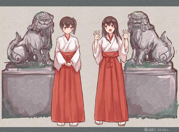巫女赤城さんと加賀さん
