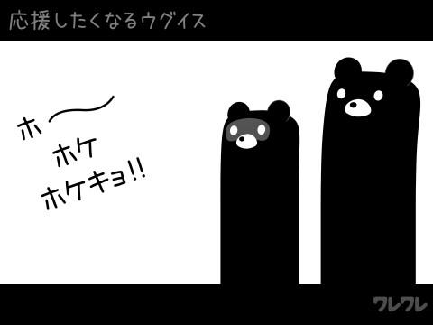 応援したくなるウグイス【実録GIFアニメ】