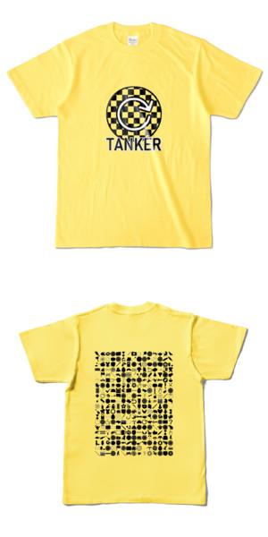Tシャツ イエロー 円TANKER