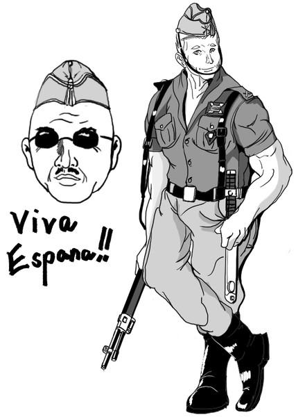 スペイン青師団のマッチョな兵士~ダニエル・ガルシア