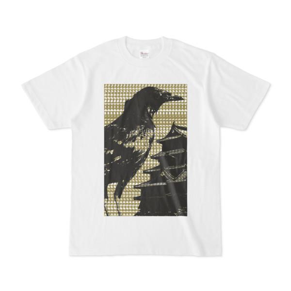 シンプルデザインTシャツ M-CrowCastle(OLIVE)