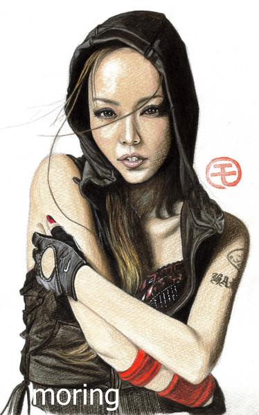 安室奈美恵 モリング似顔絵のおっ さんのイラスト ニコニコ静画