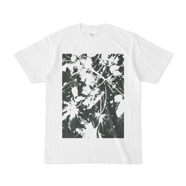 Tシャツ ホワイト PLANT_GREEN