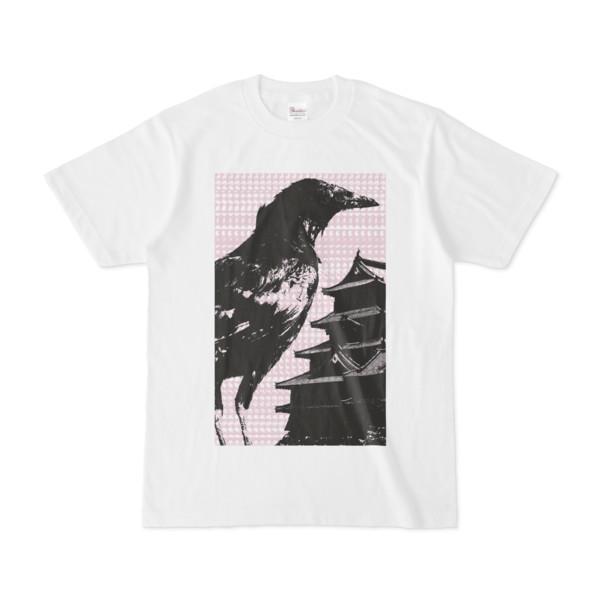 シンプルデザインTシャツ M-CrowCastle(THISTLE)