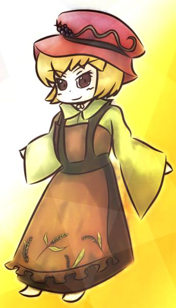 東方アレンジ動画用に描いた穣子