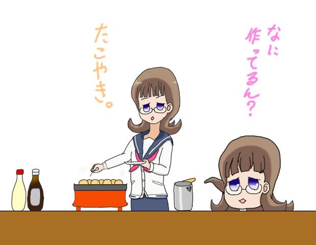 フナQとタコ焼き