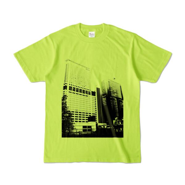 Tシャツ ライトグリーン Shinjuku_Building