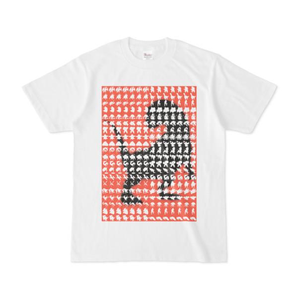 シンプルデザインTシャツ MONSTER-REX41(TOMATO)