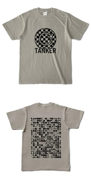 Tシャツ シルバーグレー 円TANKER