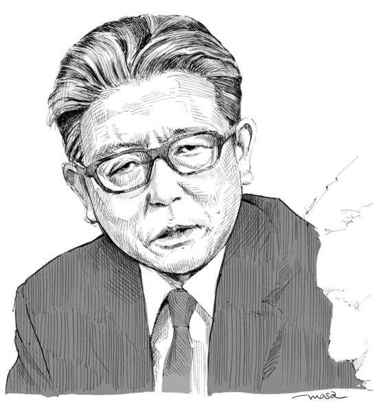 追悼似顔絵:久米明さん